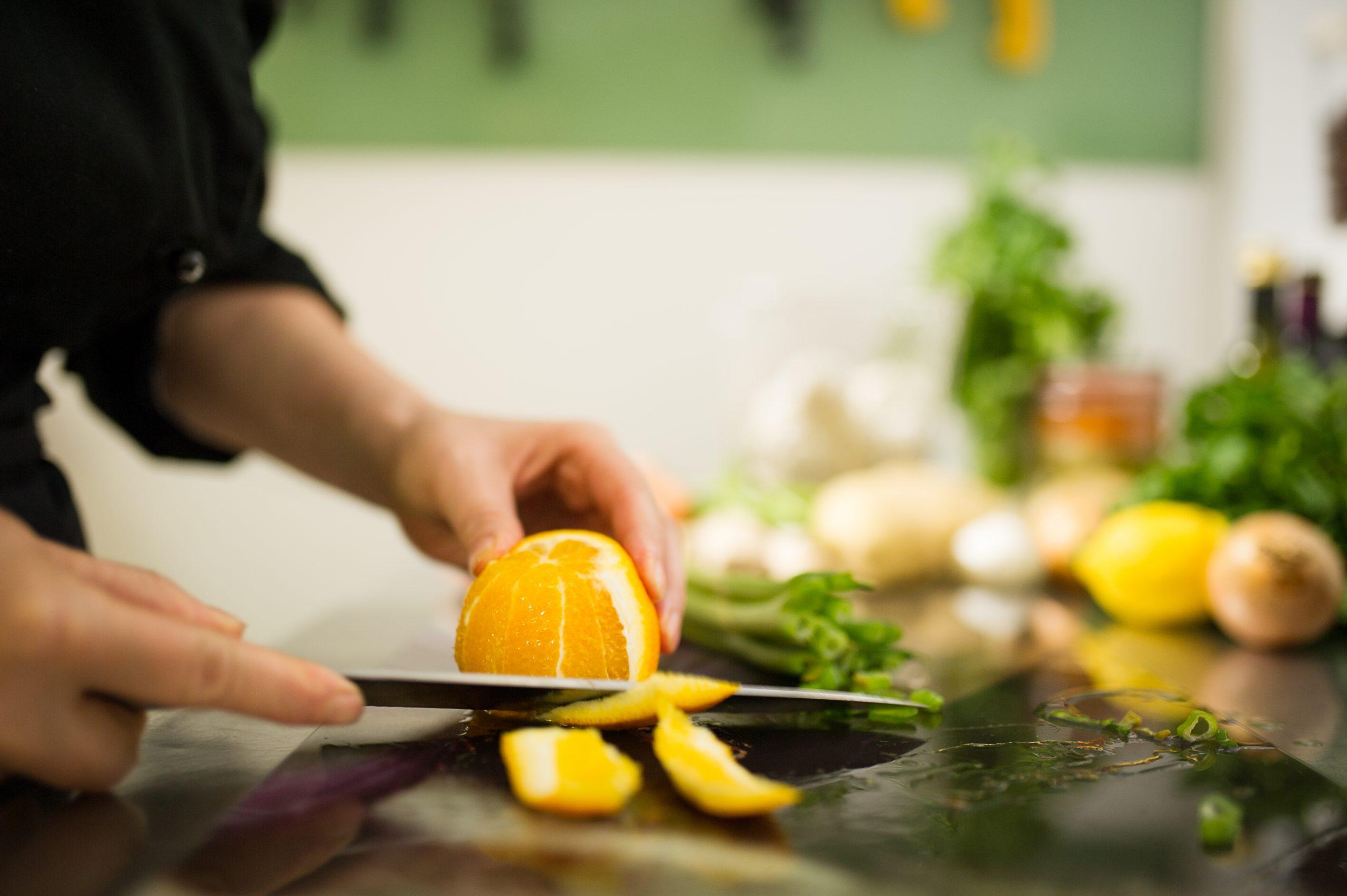 Orange wird filitiert